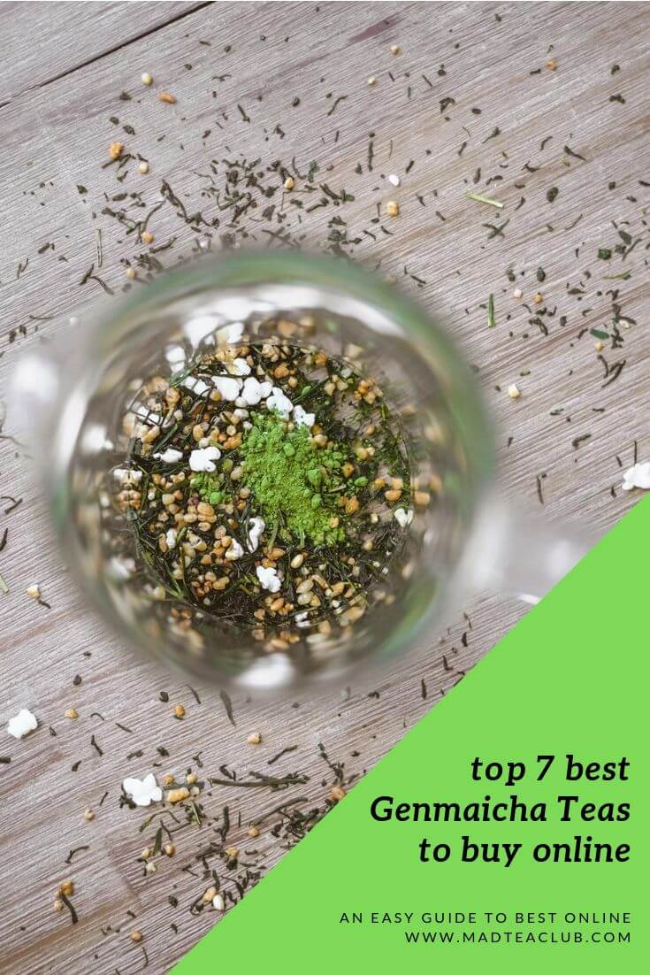 top 7 best Genmaicha teas to buy online, pinterest design
